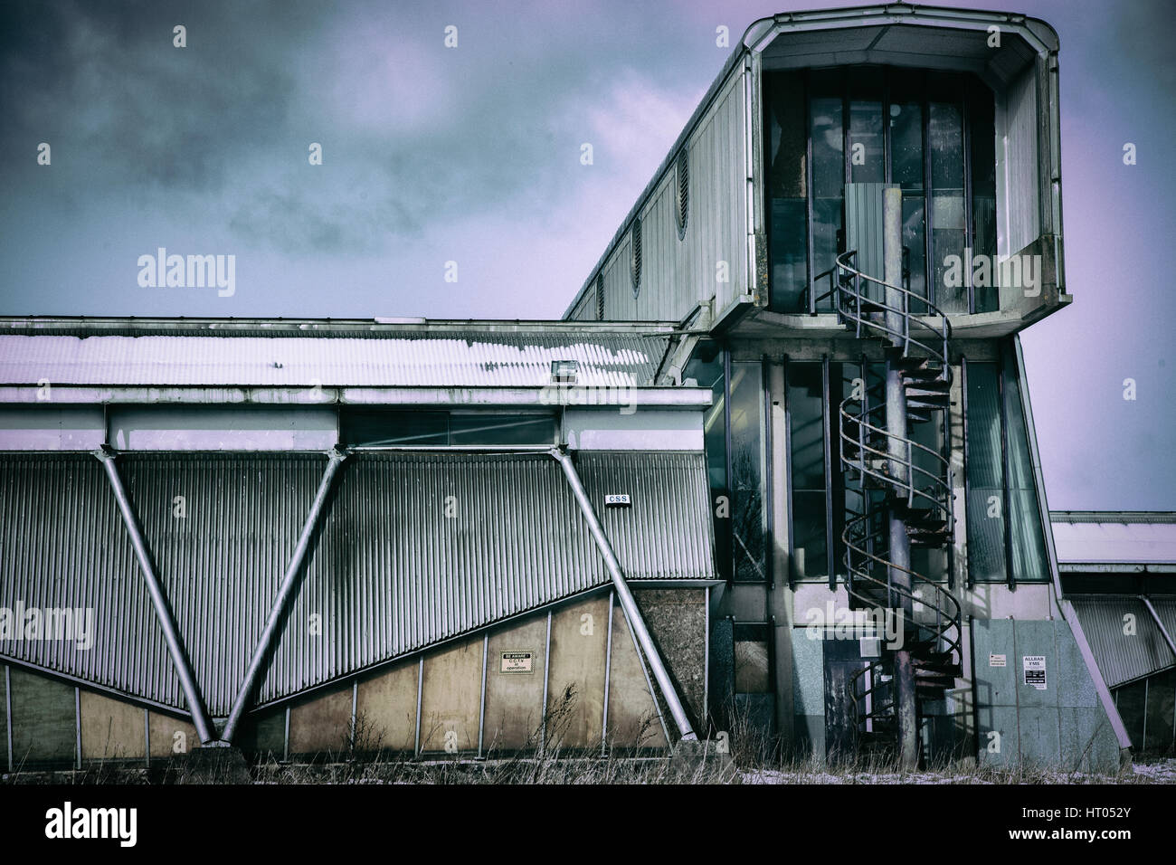 Derelict Industrial unit near Shotts, North Lanarkshire - Stock Image