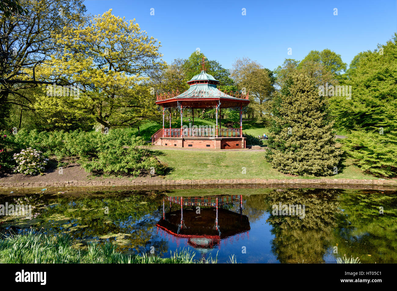 Bandstand in Sefton Park, Liverpool - Stock Image