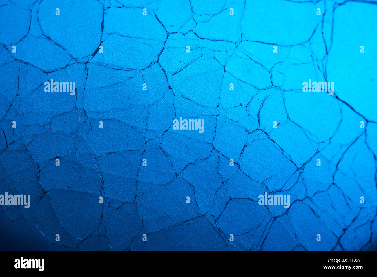 Abstract crazed / cracked glass macro-photo. Possible metaphor for mental illness, shattered dreams, broken promises, - Stock Image