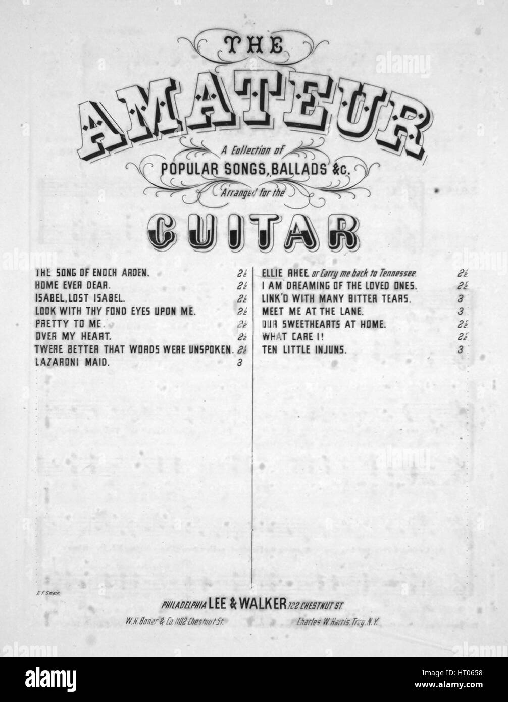 Sheet music cover image of the song 'The Amateur A