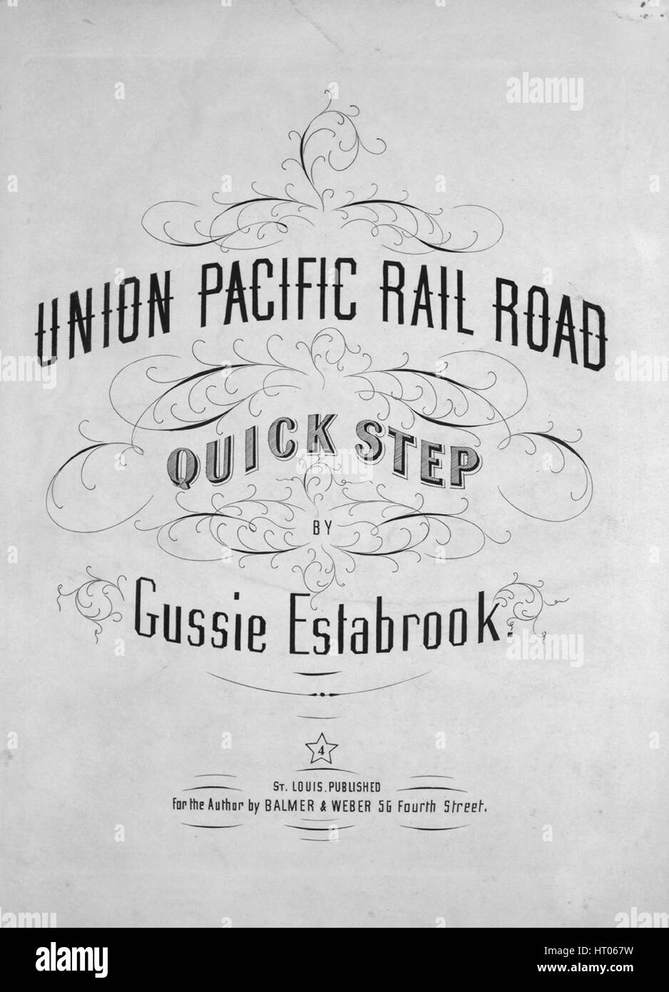 Sheet music cover image of the song 'Unin Pacific Rail Road Quick