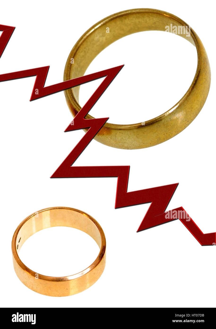 Symbolbild Scheidung - symbolic for divorce - Stock Image