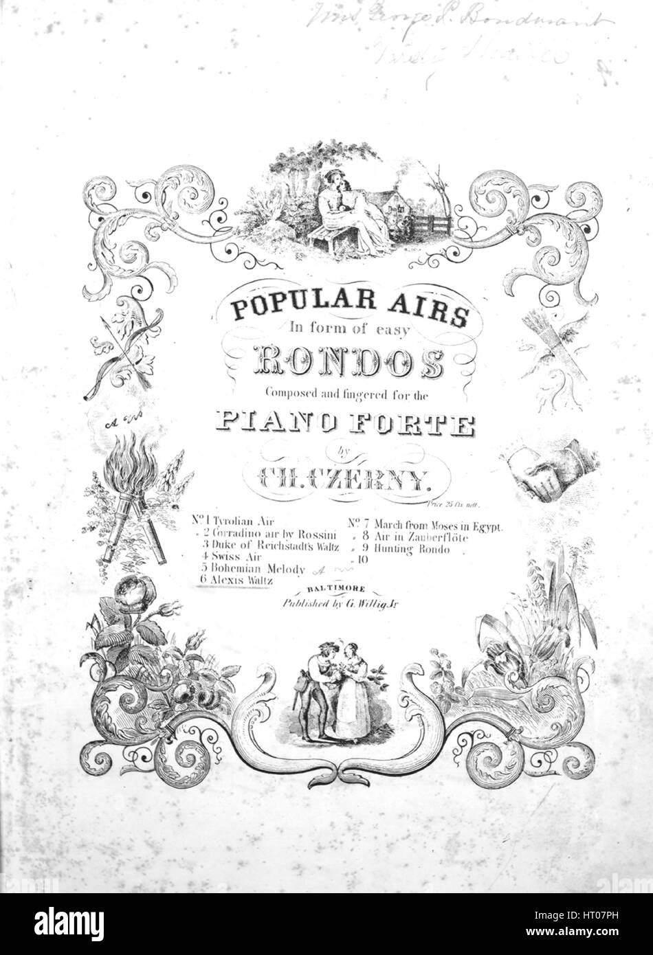 Sheet music cover image of the song 'Alexis Waltz No 6 [damaged copy] Series title  Popular Airs in [the] form - Stock Image