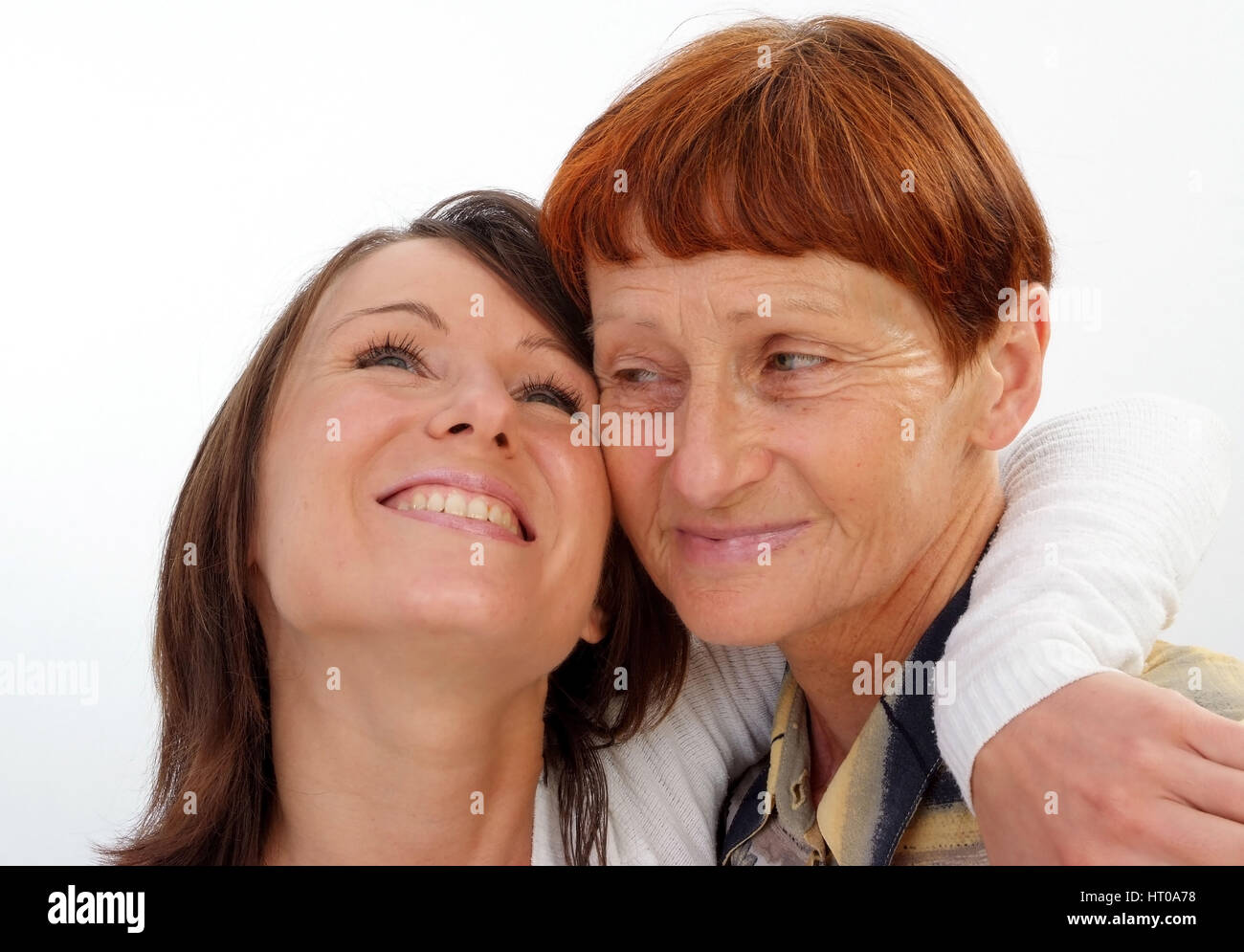 Mutter, 60 Jahre, mit Tochter, 30 Jahre - mother, 60 years old, with daughter, 30 years old Stock Photo