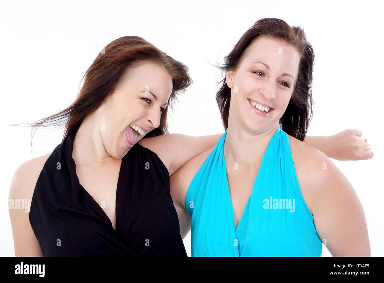 Zwillinge - twins - Stock Image