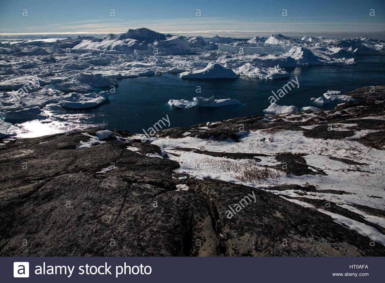 Jakobshavn Glacier Clear Sky - Stock Image