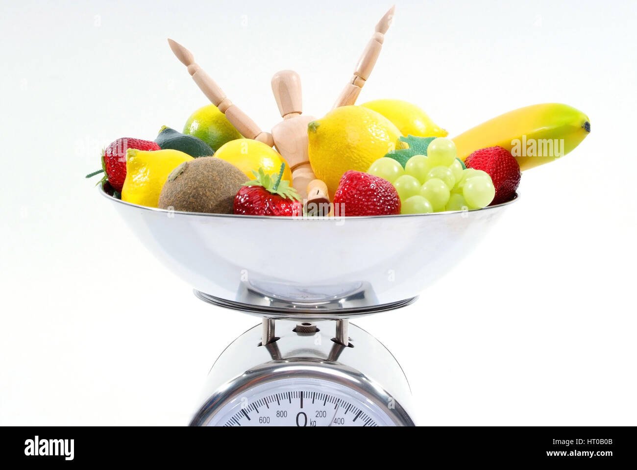 Symbolbild Vitalitaet durch Obst - symbolic for vitality with fruits - Stock Image
