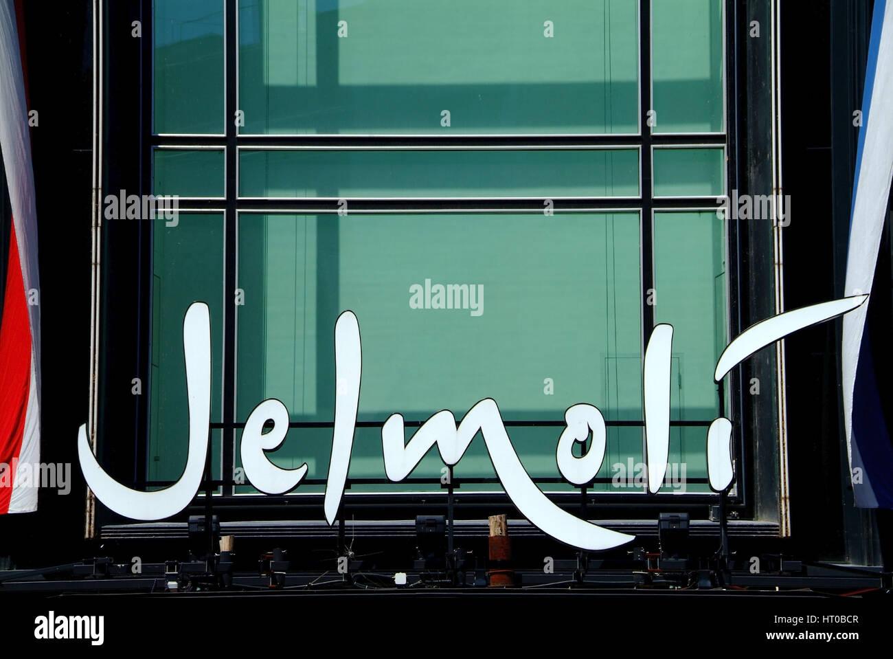 bekanntes Kaufhaus Jelmoli in Zuerich, Schweiz - Swiss department store Jelmoli in Zurich - Stock Image