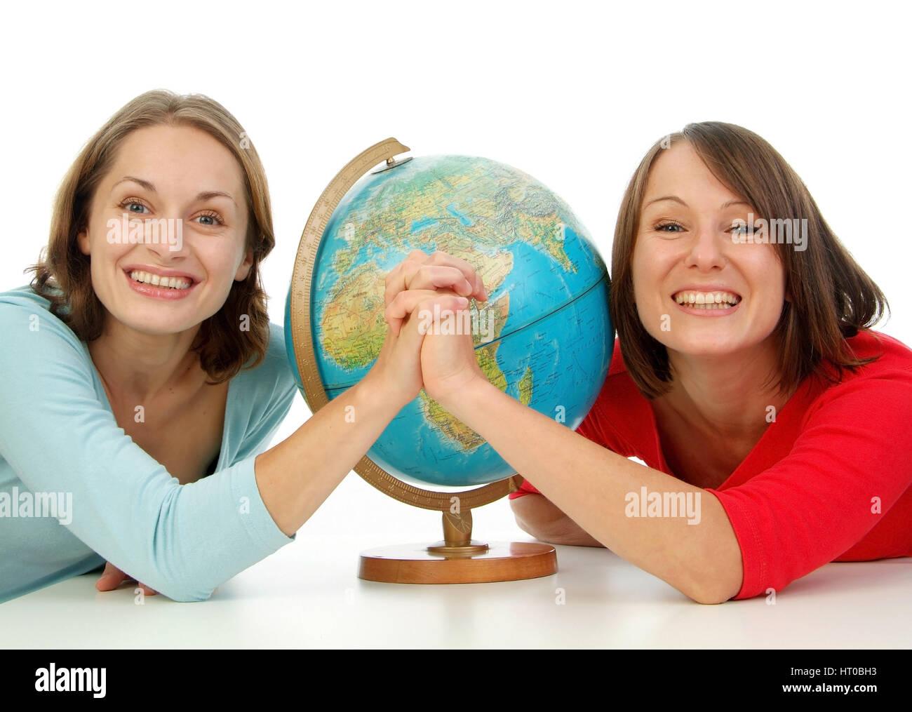 Symbolbild globale Freundschaft - symbolic for global friendship Stock Photo