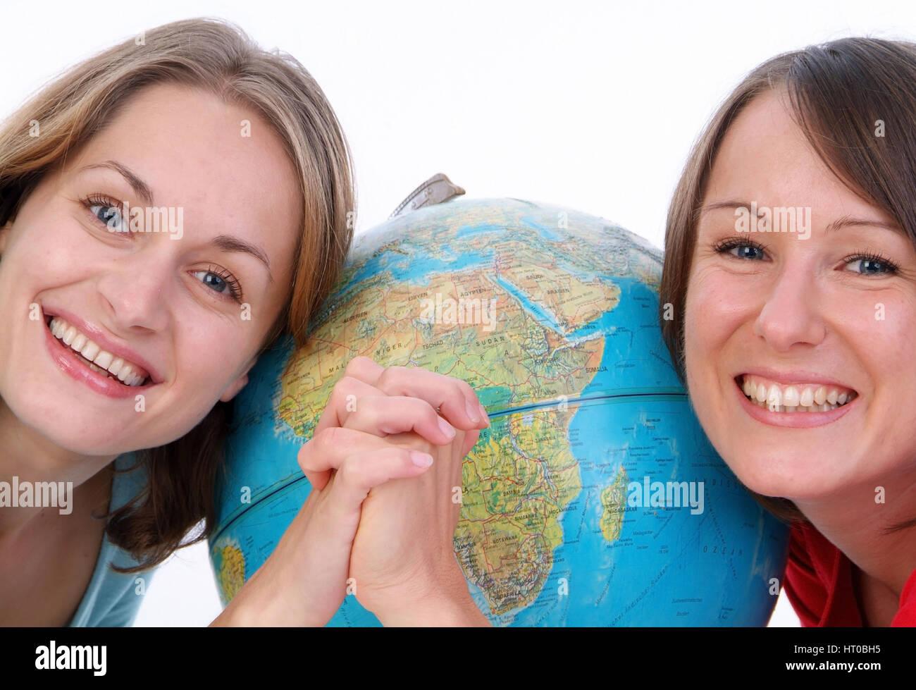 Symbolbild globale Freundschaft - symbolic for global friendship - Stock Image