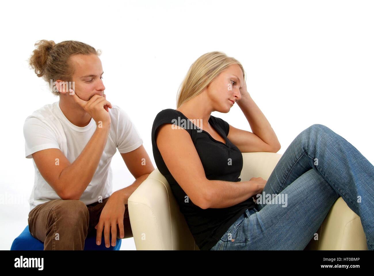 Symbolbild Beziehungsprobleme - symbolic for couple in crisis Stock Photo