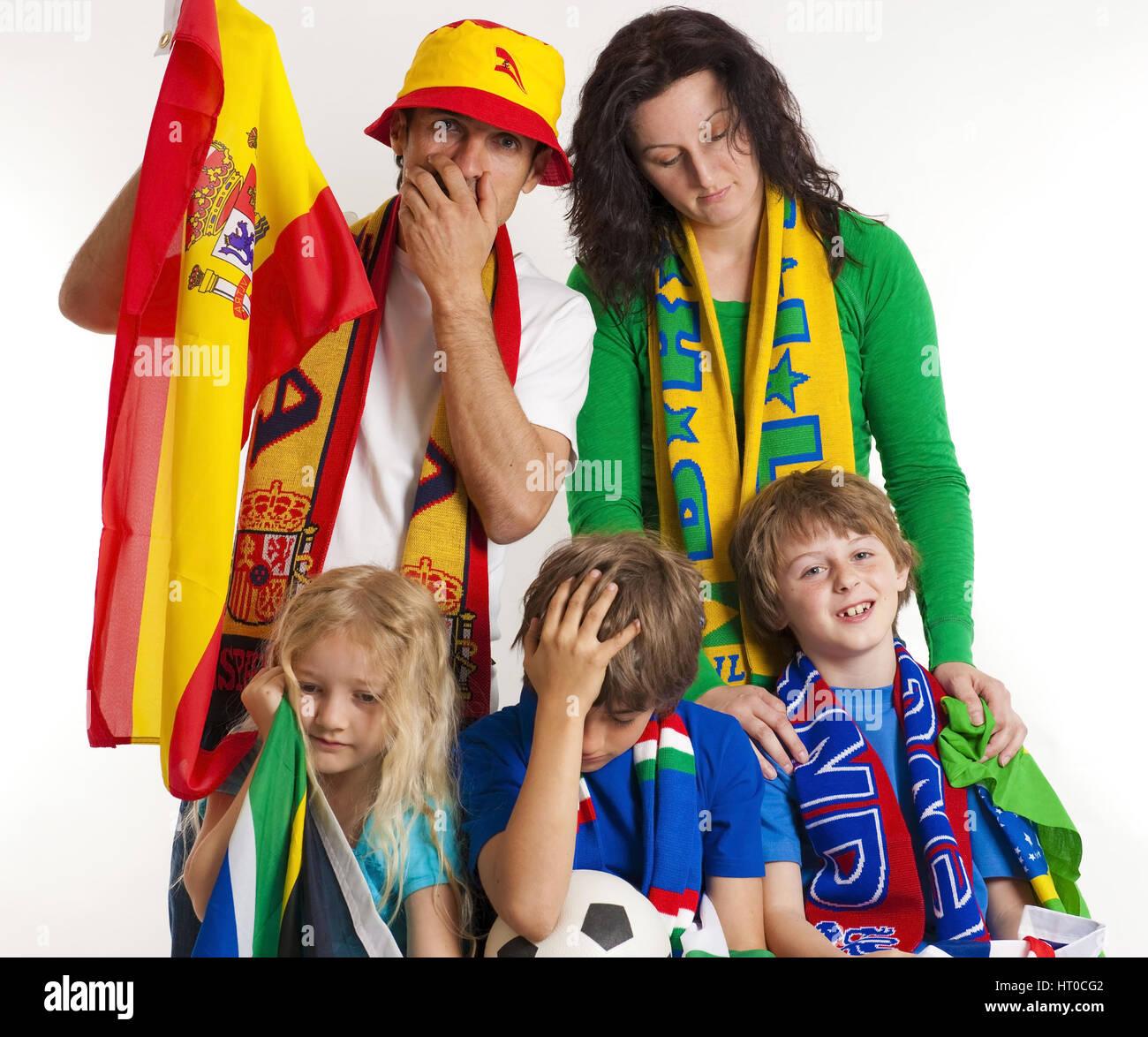 Fu?ballfans, Fu?ball-WM - soccer fans - Stock Image