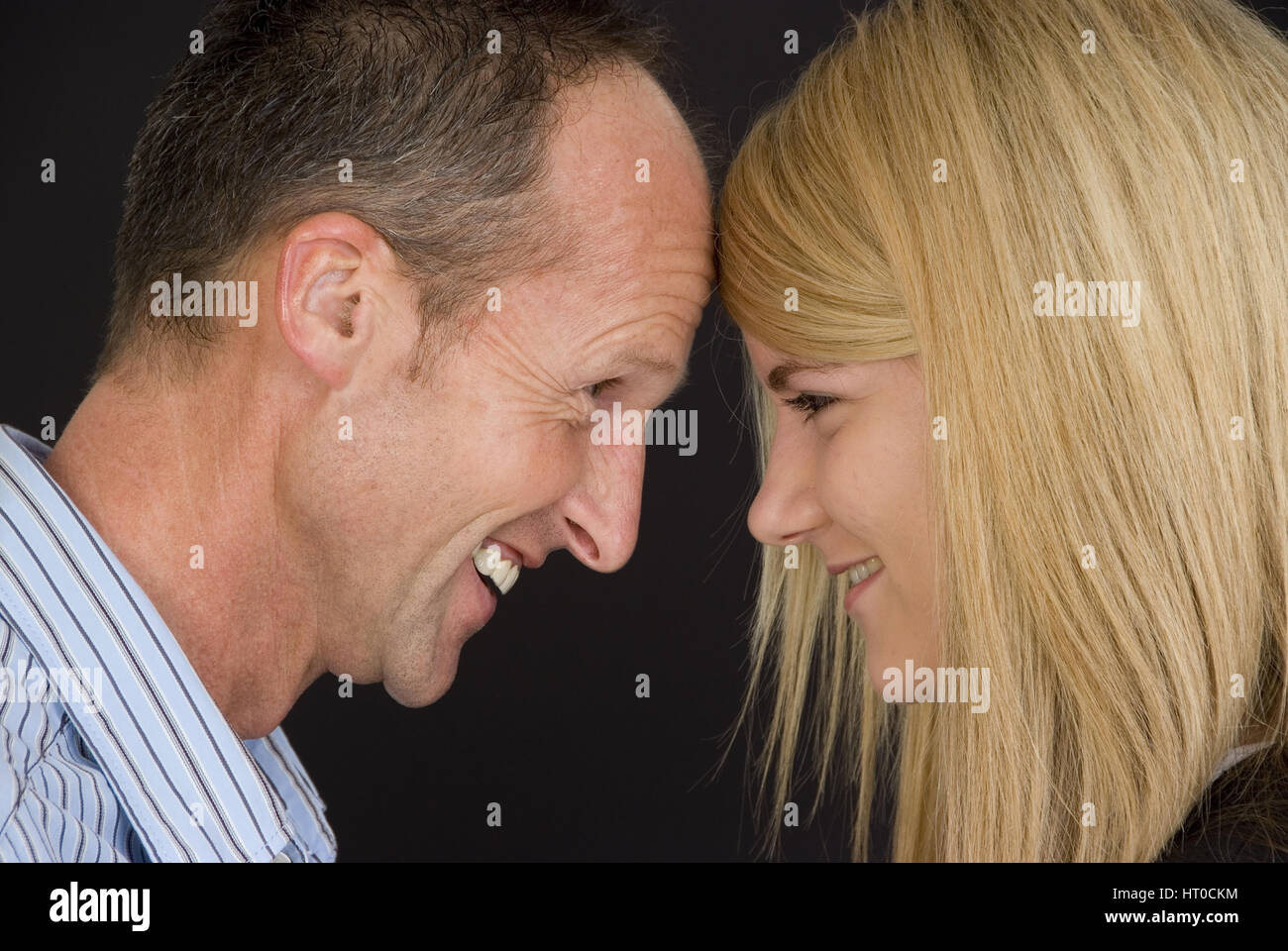 Vater und Tochter - father and daughter Stock Photo