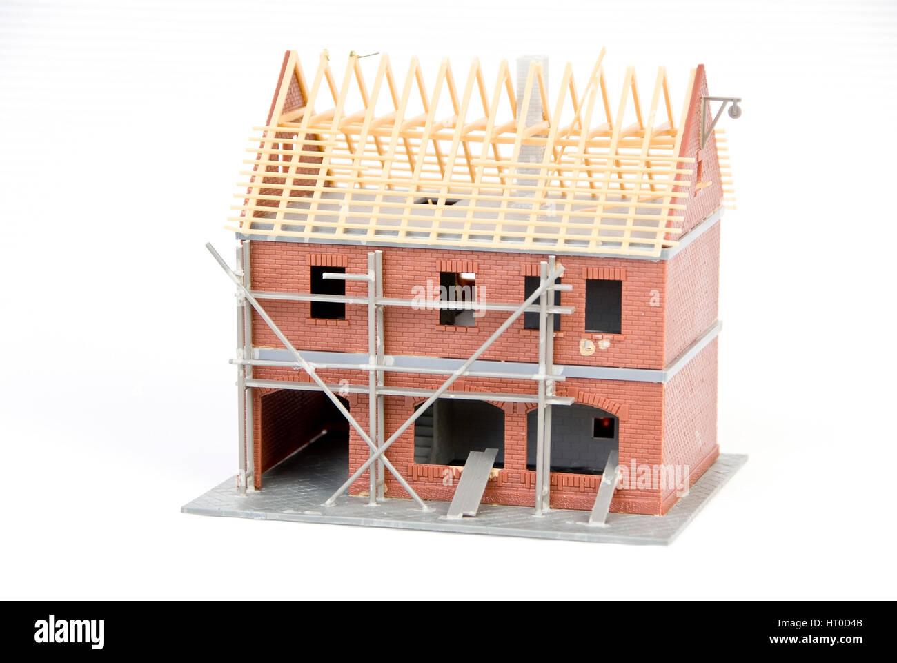 Rohbau - bare brickwork - Stock Image