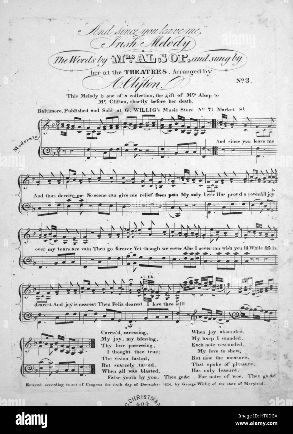 Sheet music cover image of the song 'And since you leave me