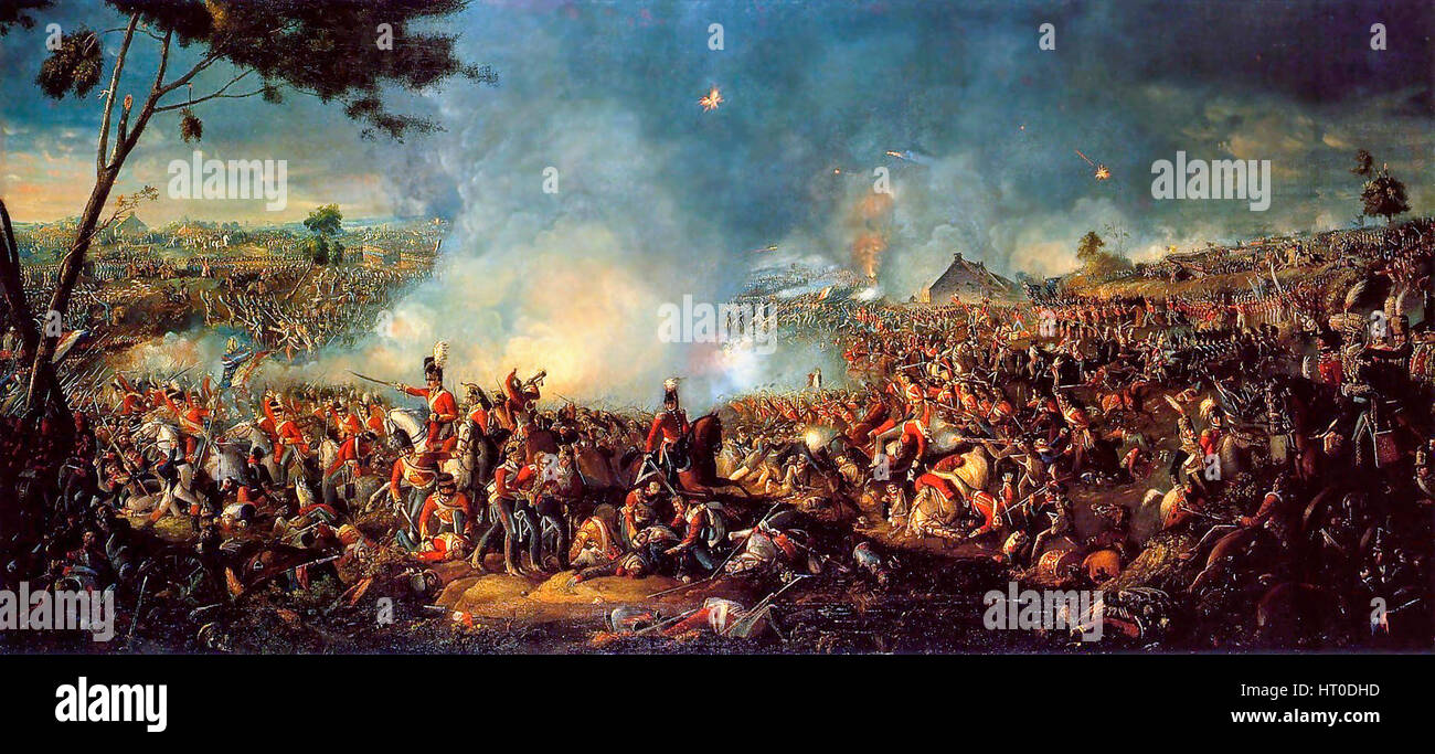 The Battle of Waterloo by William Sadler - Stock Image