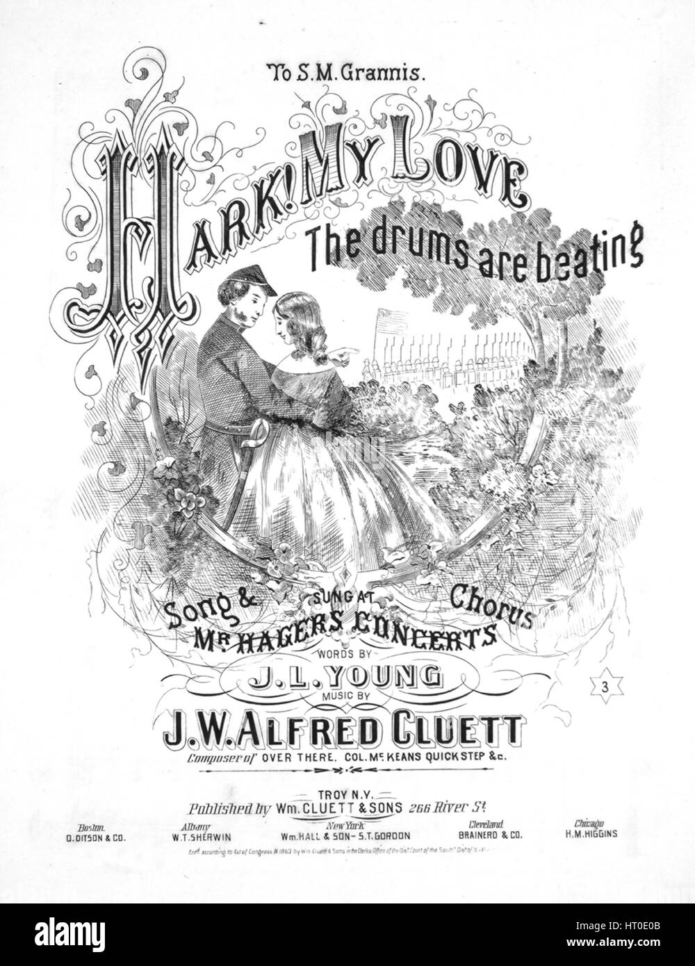 Sheet music cover image of the song 'Hark! My Love, The