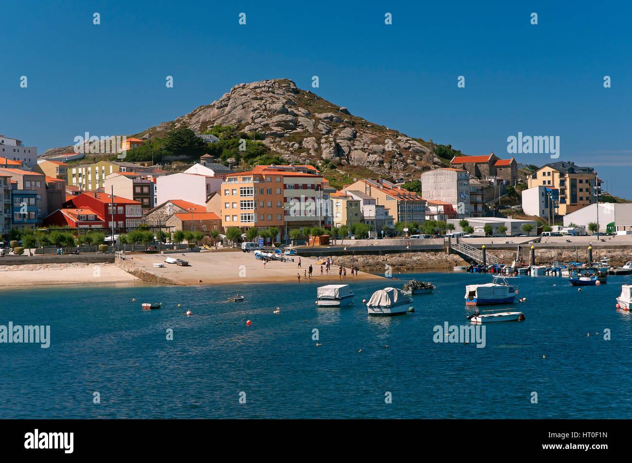 Coastal landscape, Muxia, La Coruña province, Region of Galicia, Spain, Europe - Stock Image