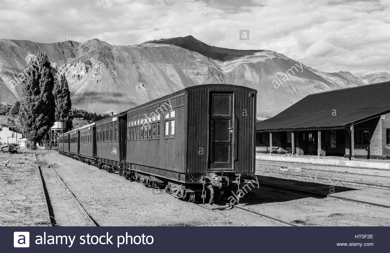 Train station in Esquel - Stock Image