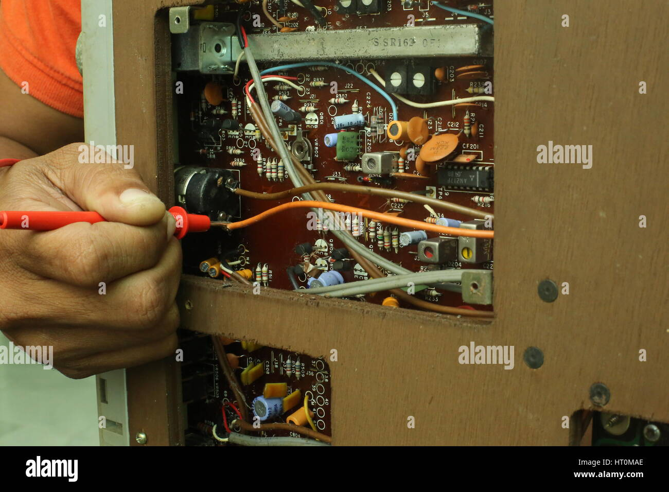 Transistor Radio Circuit Board Stock Photos Repair And Diagnostic Of Electronic Photo Electronics Device Image