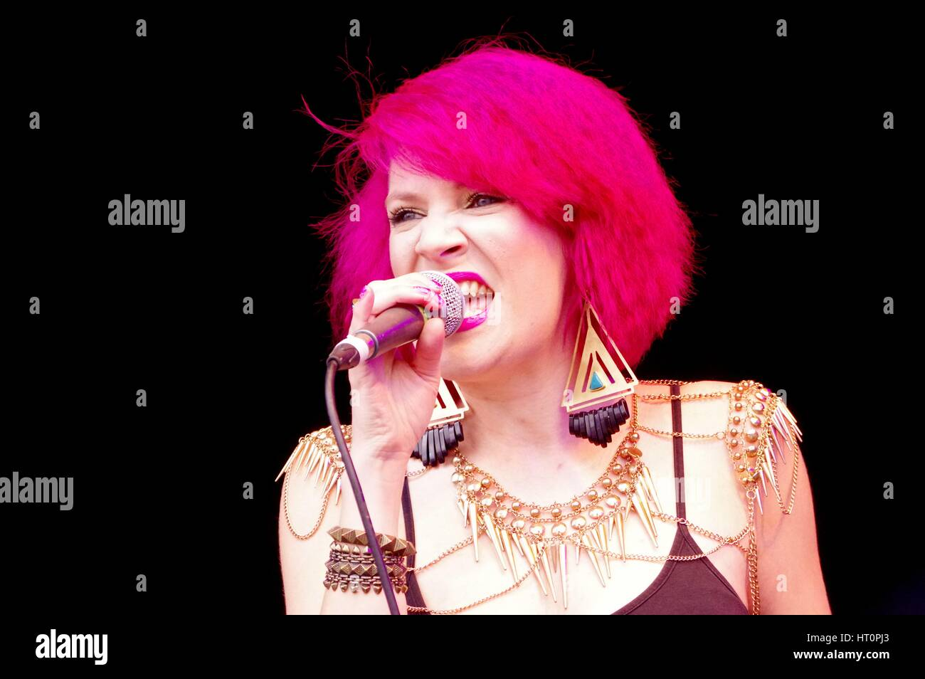 Katie Leonie, Love Supreme Jazz Festival, Glynde Place, East Sussex, 2014. Artist: Brian O'Connor. - Stock Image