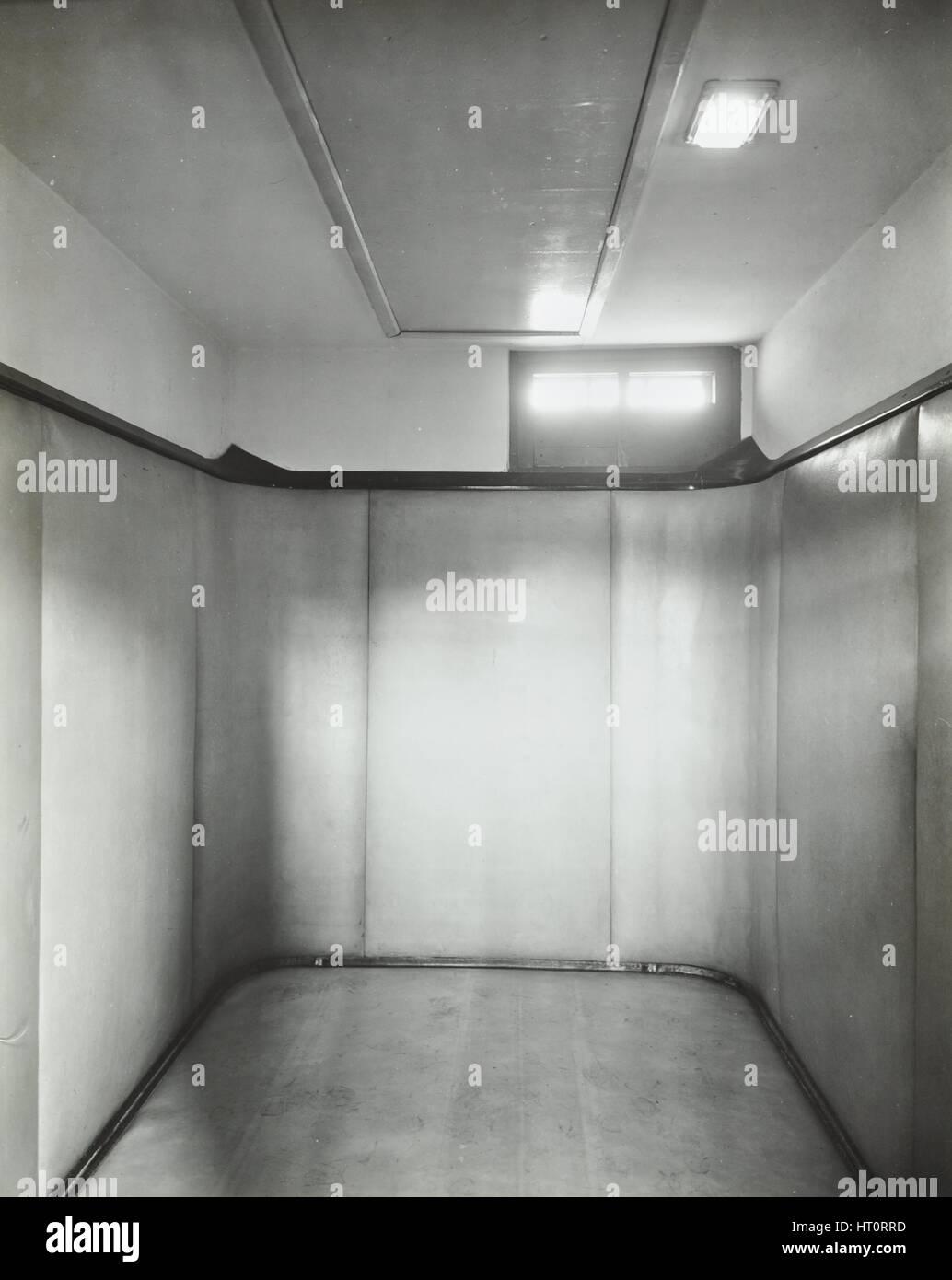 Padded room, Saint Ebba's Hospital, Surrey, 1938. Artist: Unknown. Stock Photo