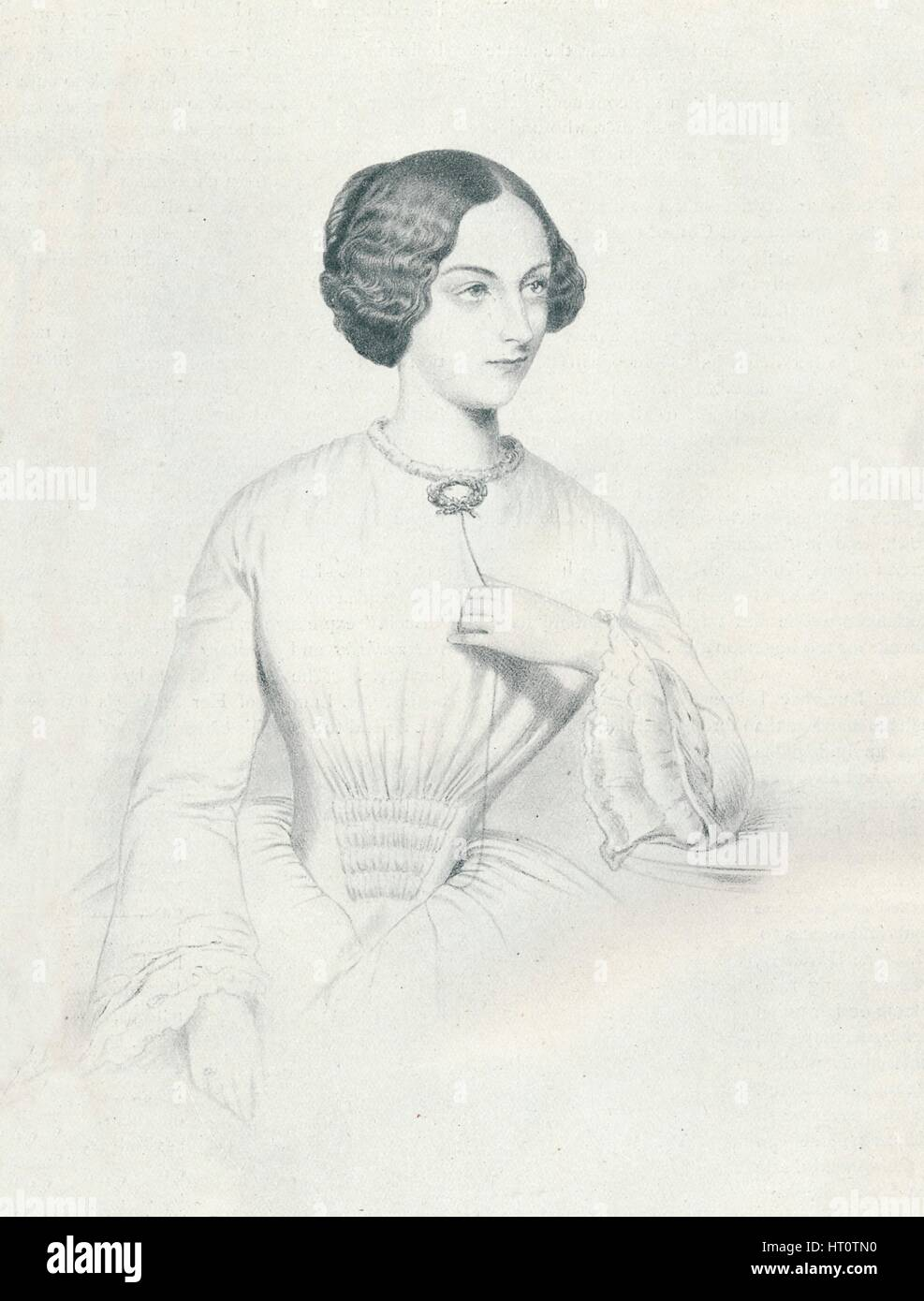 'Johanna Wagner', 1852. Artist: Richard James Lane. - Stock Image