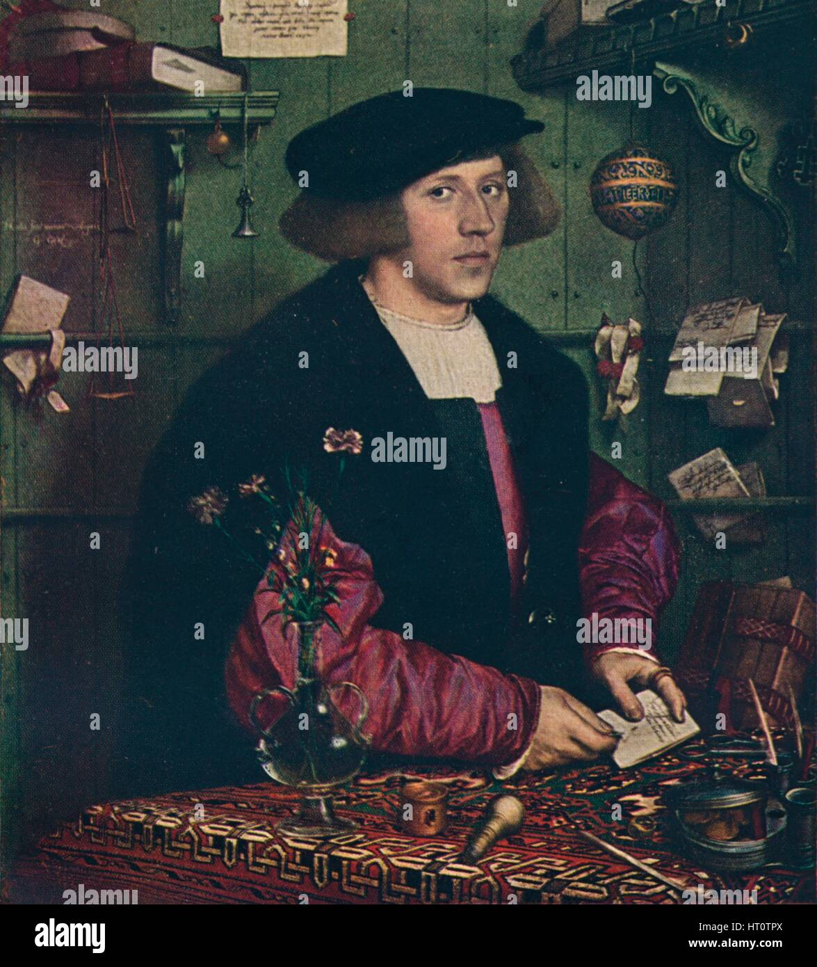 'The Merchant Georg Gisze', 1532. Artist: Hans Holbein the Younger. - Stock Image