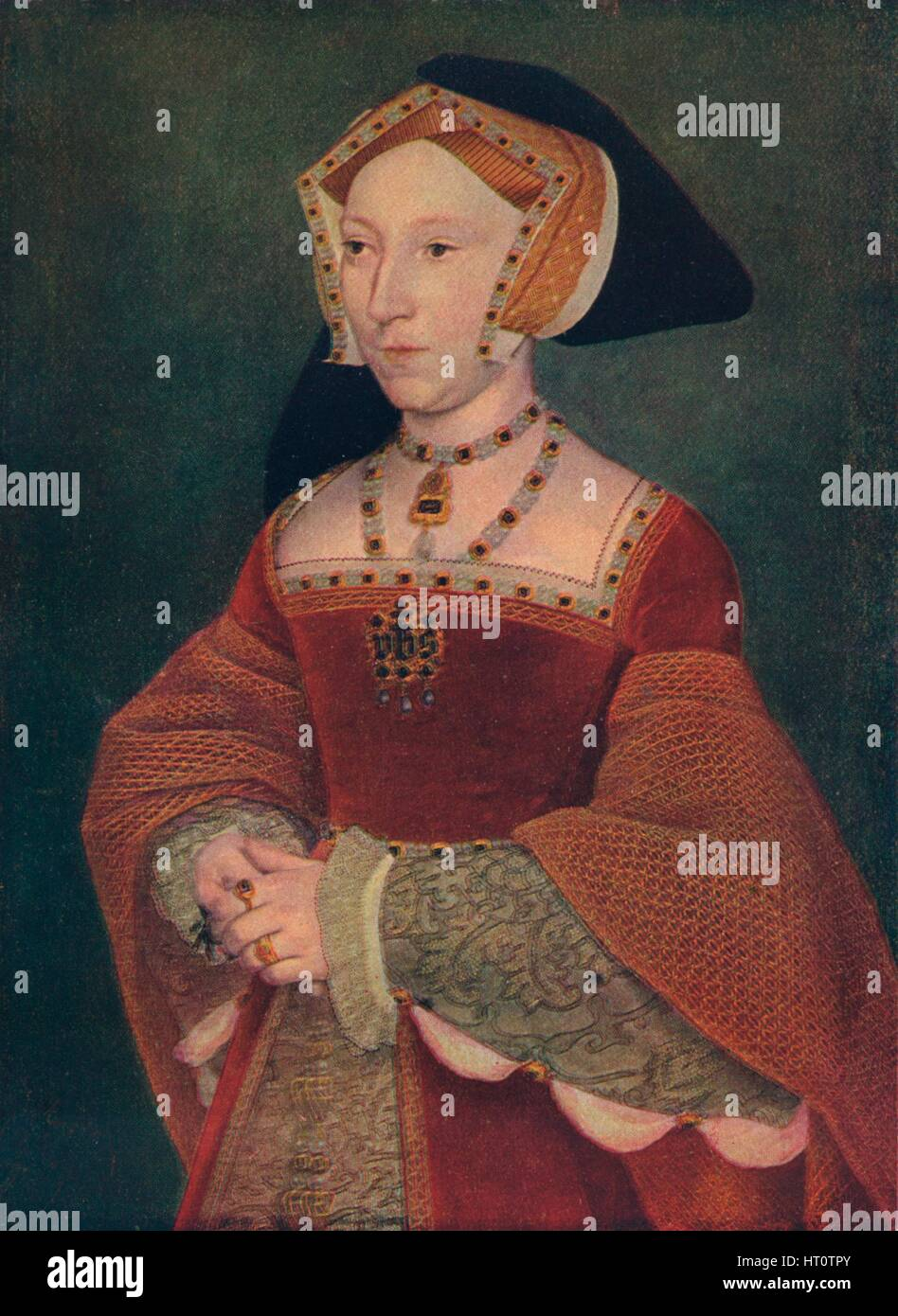 'Jane Seymour', 1537. Artist: Hans Holbein the Younger. - Stock Image