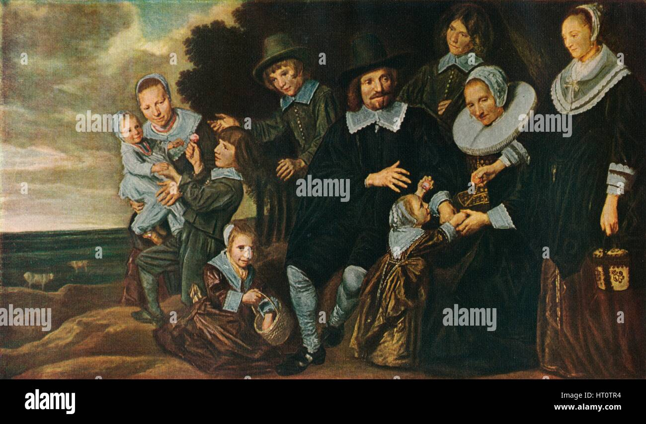 'A Family Group in a Landscape', 1647-50. Artist: Frans Hals. - Stock Image