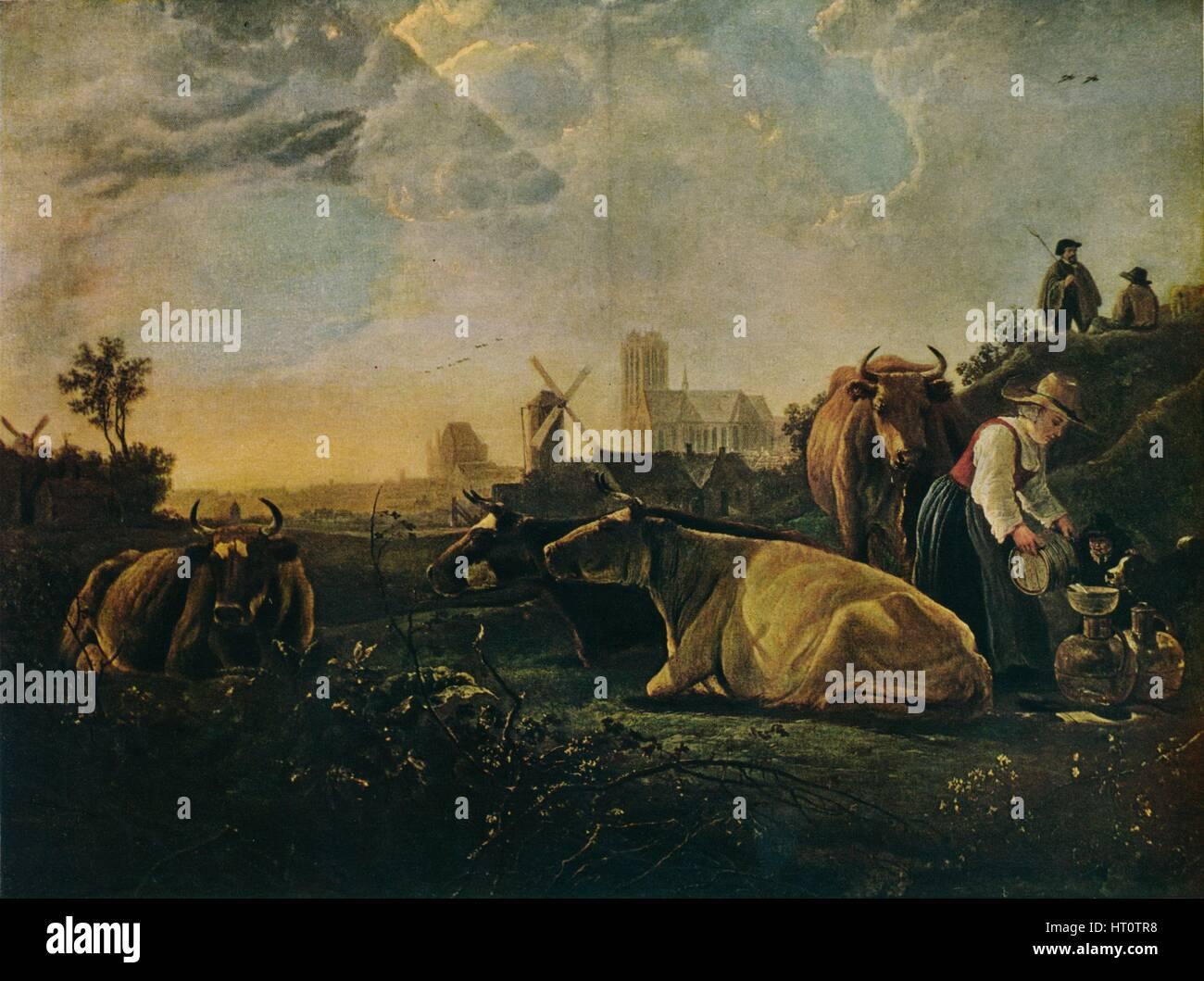 'The Large Dort', c1650. Artist: Aelbert Cuyp. - Stock Image
