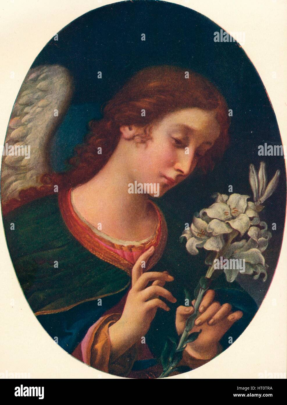 'Angel of the Annunciation', 17th century. Artist: Carlo Dolci. - Stock Image