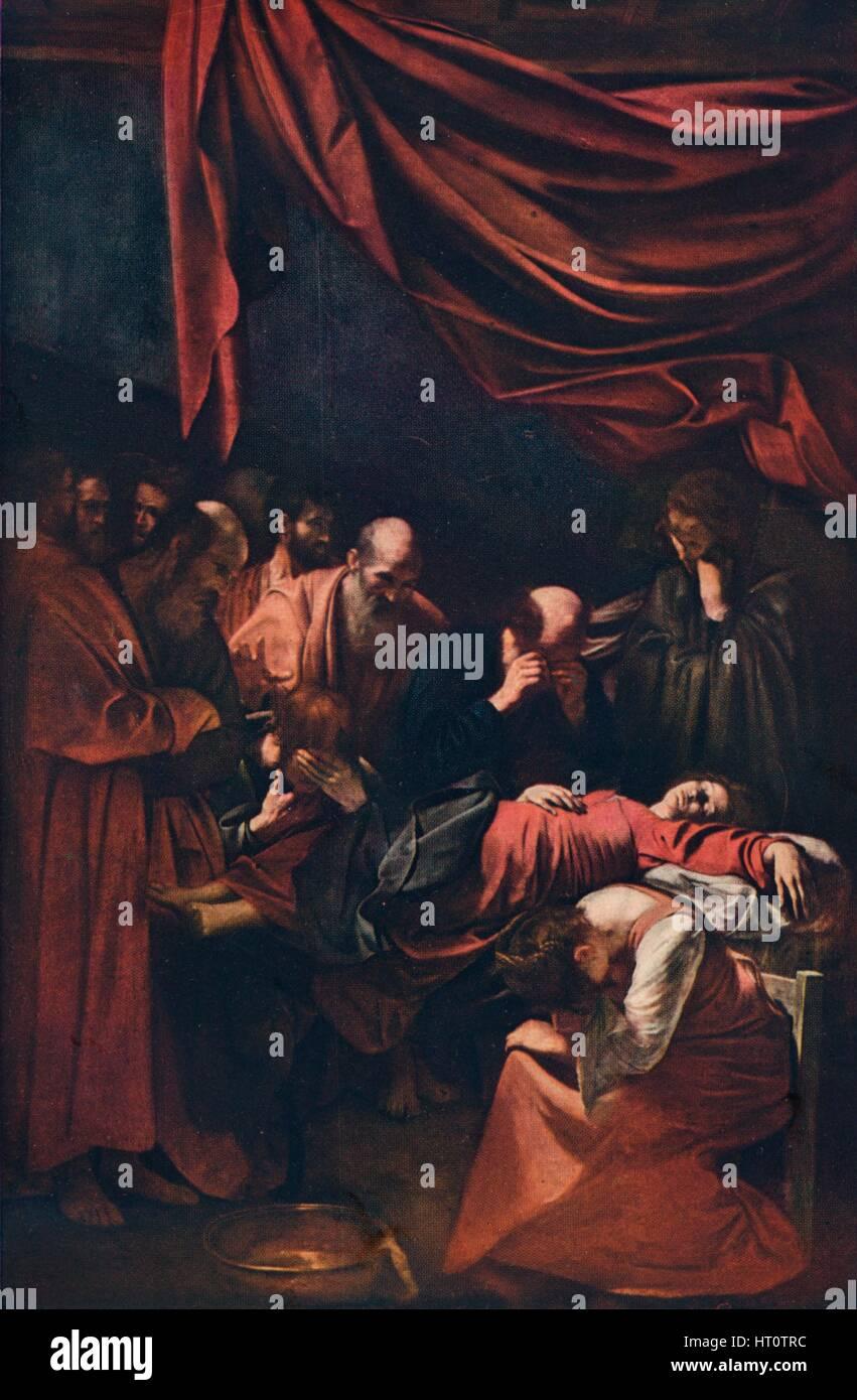 'Death of the Virgin', c1606. Artist: Michelangelo Caravaggio. - Stock Image