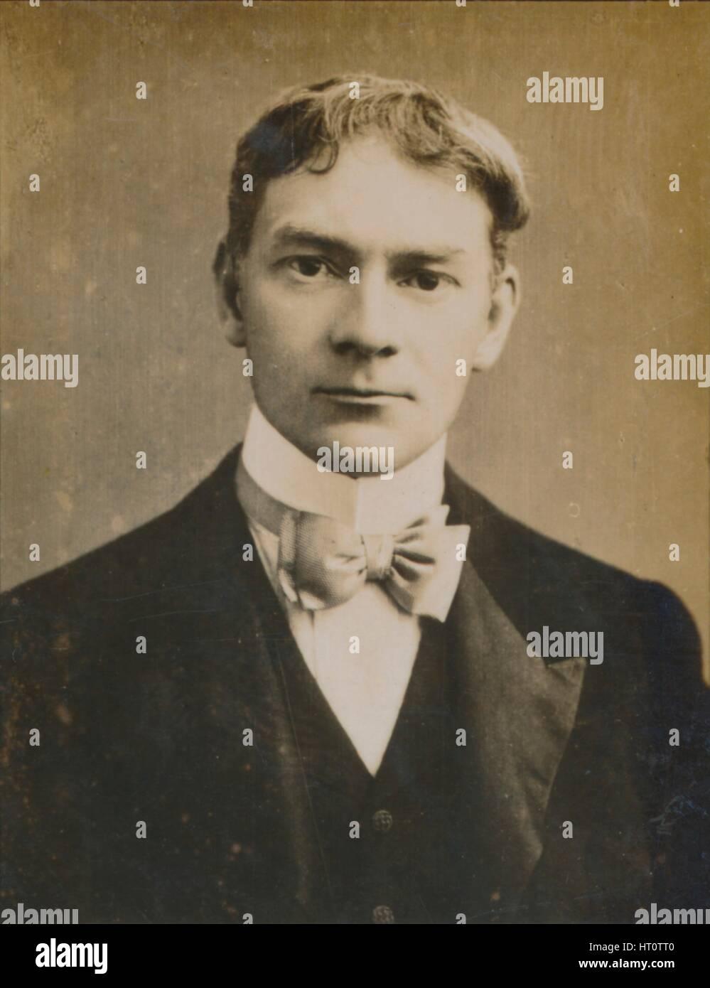 'Jerome K. Jerome', (1859-1927), English author, 1894-1907. Artist: Unknown. - Stock Image