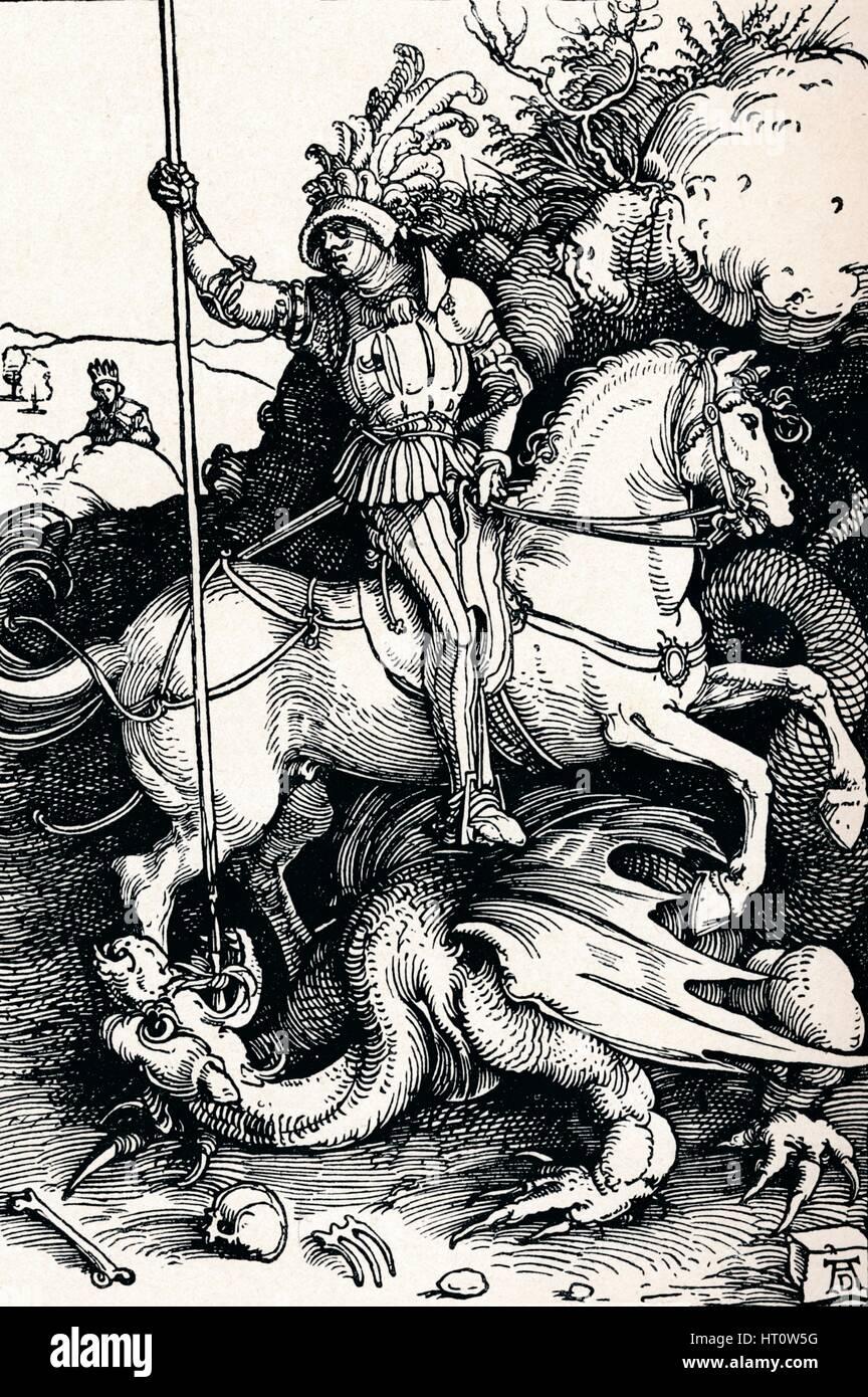 'St George and the Dragon', 1505 (1906). Artist: Albrecht Durer.