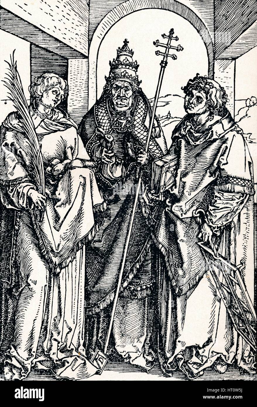 'Saints Stephen, Sixtus and Lawrence', 1508 (1906). Artist: Albrecht Durer. Stock Photo