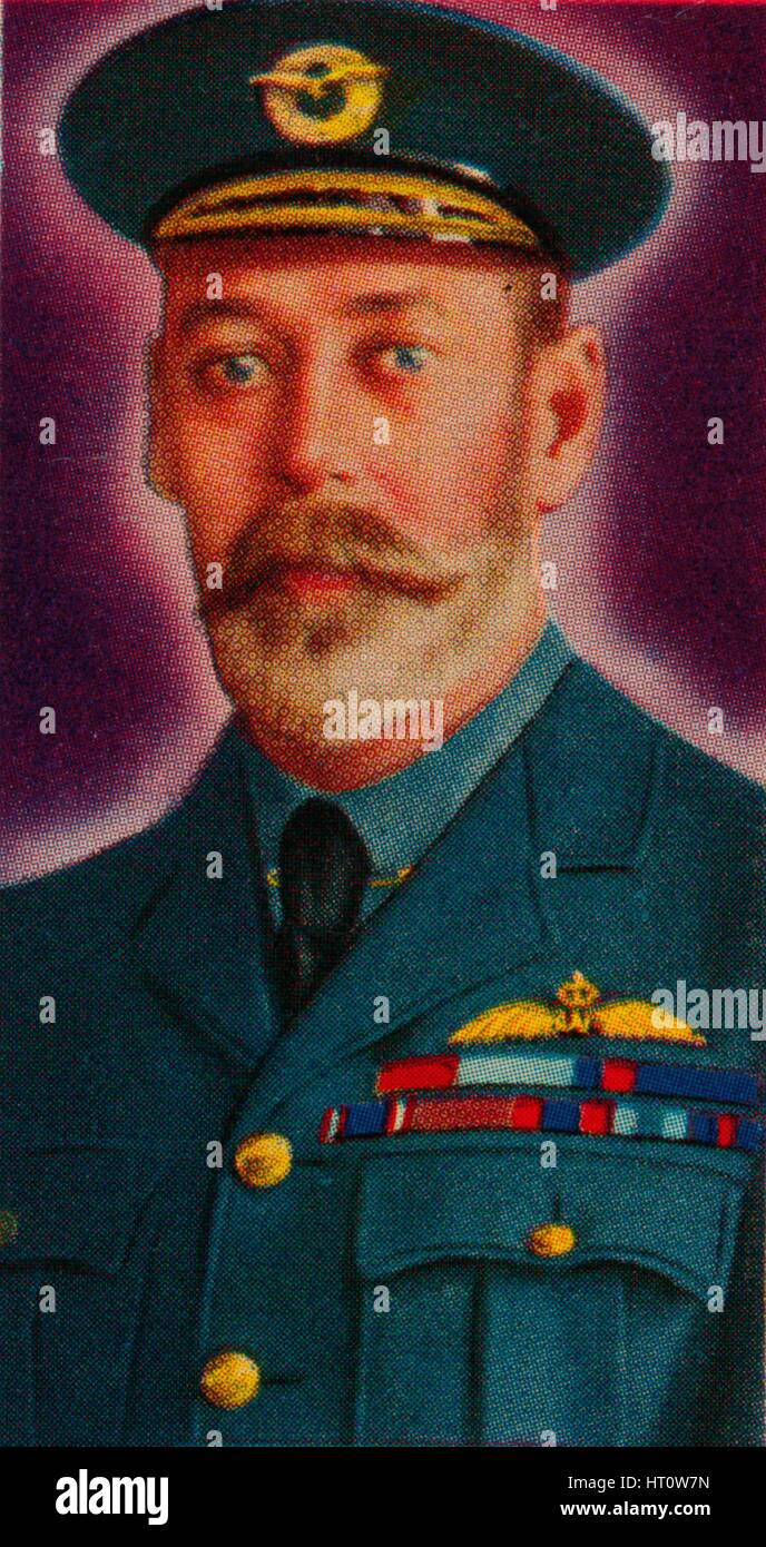 King George V in the uniform of Chief of the Royal Air Force, 1935. Artist: Unknown. - Stock Image