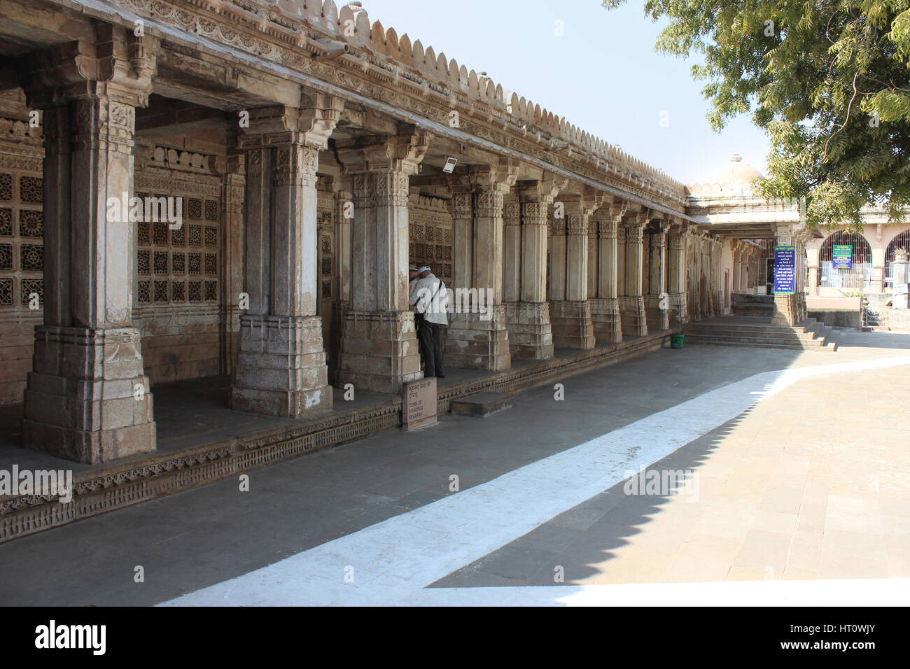 East mausoleum entrance containing the tombs of Mahmud Begada and his son Saltan Muzaffar II. Sarkhej Roza, Ahmedabad, - Stock Image