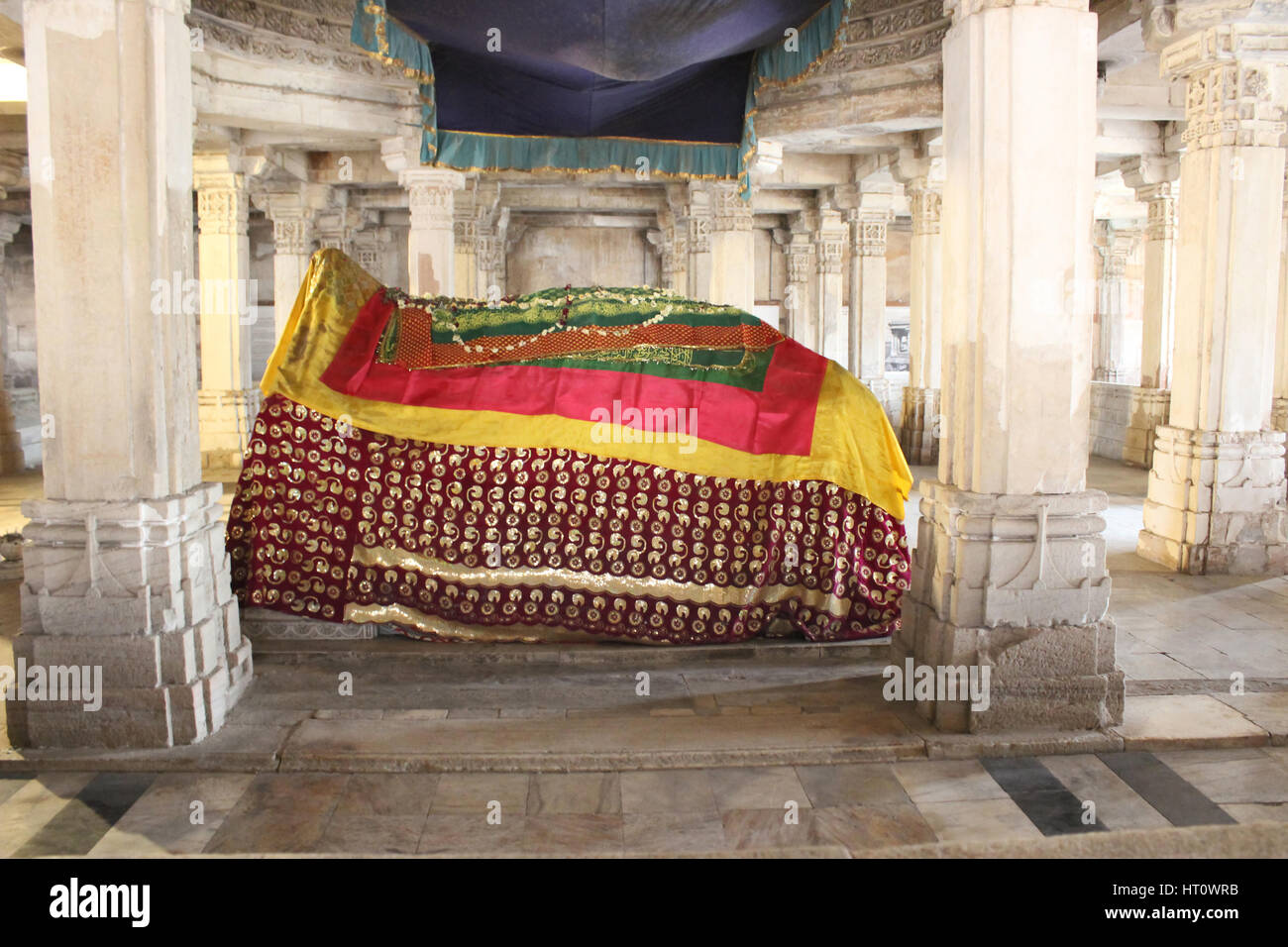 Tombs of Mahmud Begada, and of his son Saltan Muzaffar II, and the west, the tomb of Rajbai, Muzaffar's queen. - Stock Image