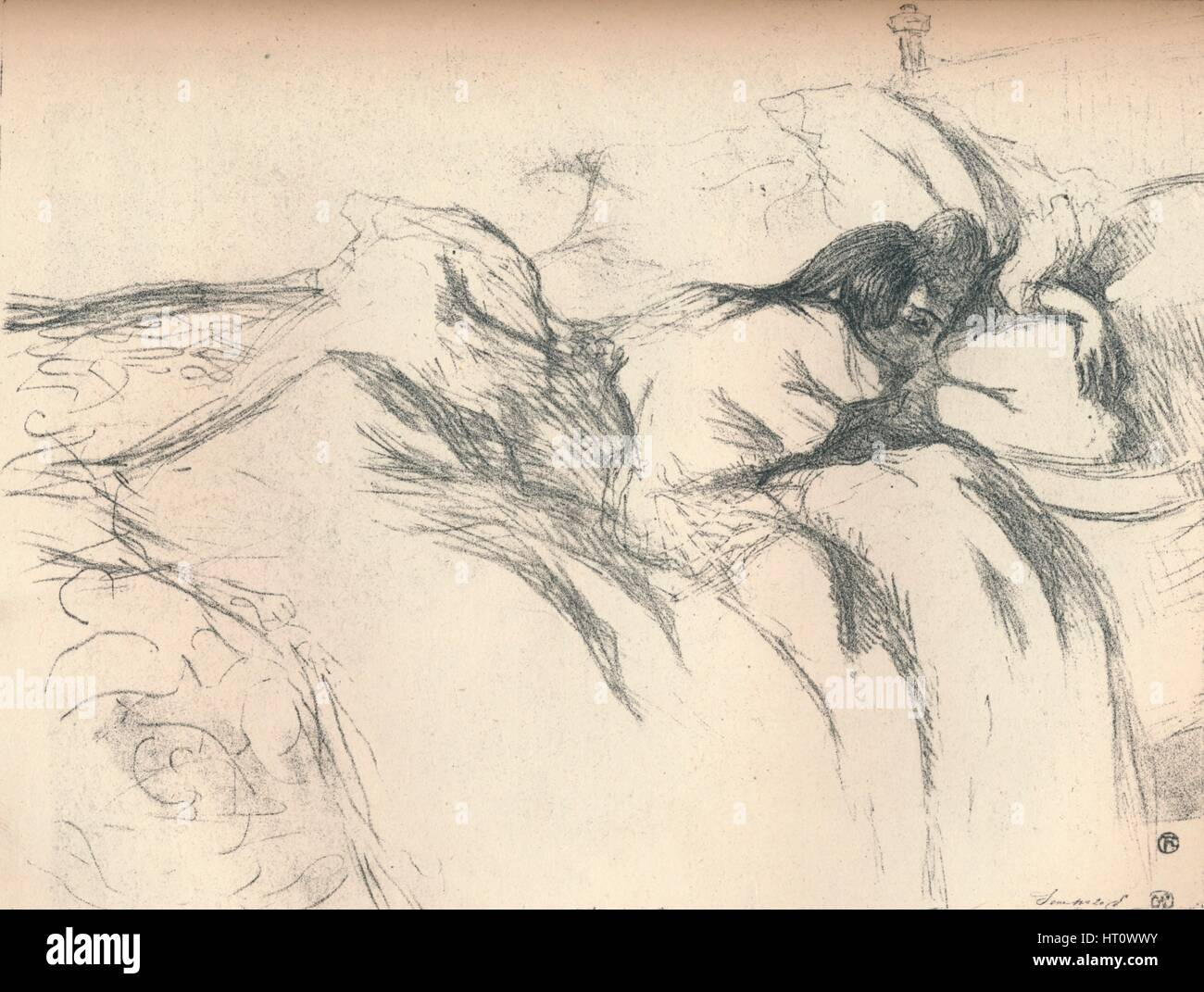 Woman Waking Up In Bed 1896 Artist Henri De Toulouse Lautrec Stock Photo Alamy