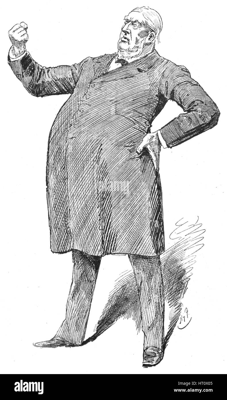 Sir William Harcourt in a fulminating moment, 1890s (1906). Artist: Unknown. - Stock Image
