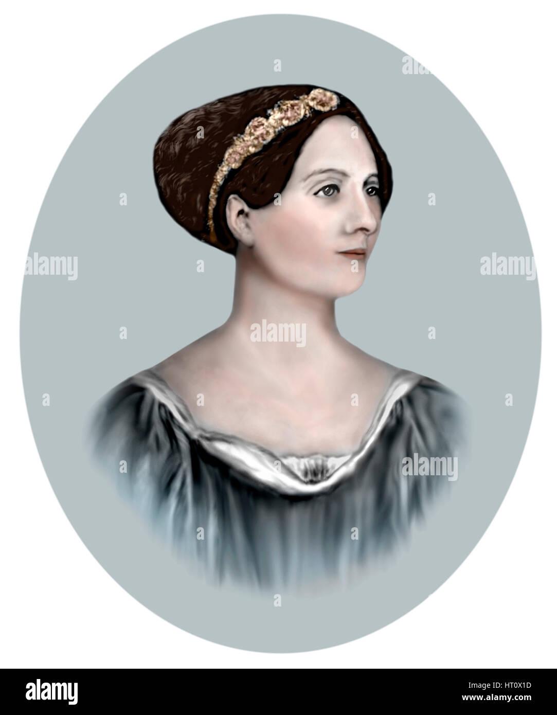 Ada Lovelace, 1815-1852, English Mathematician, Writer - Stock Image