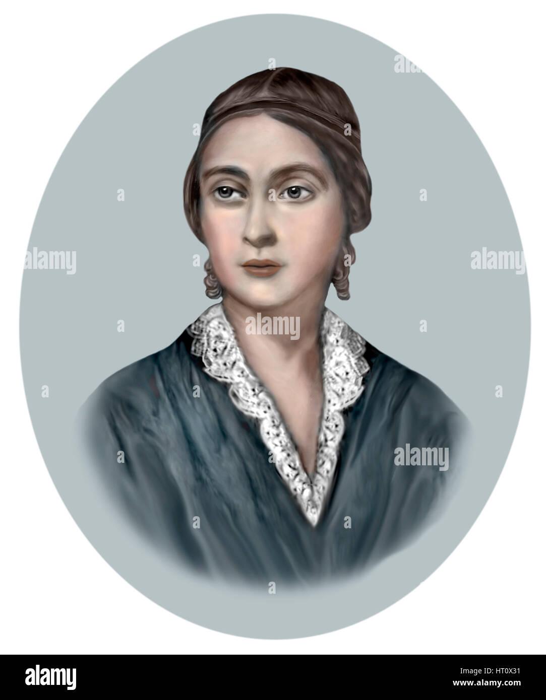 Caroline Norton, 1808-1877, Irish Writer, Social Reformer - Stock Image