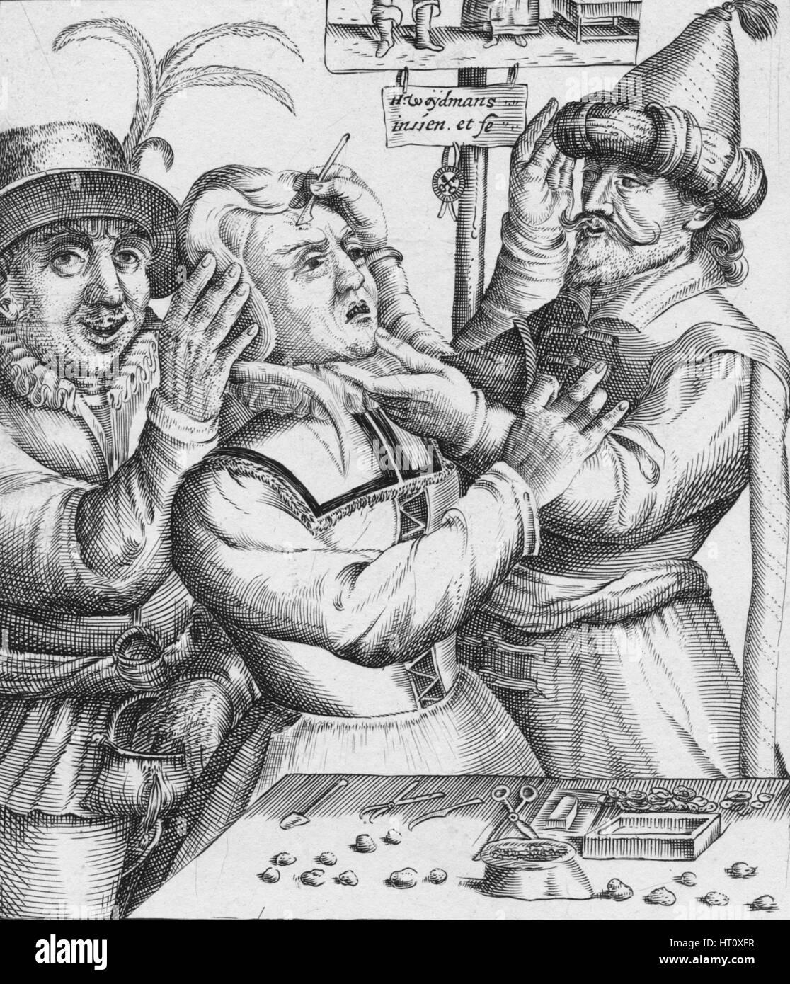 'Loopt Loopt Met Groot Verblyden,, Hier Salmen twyf van Lije Snyden', 17th century. Artist: HW Weydman. - Stock Image