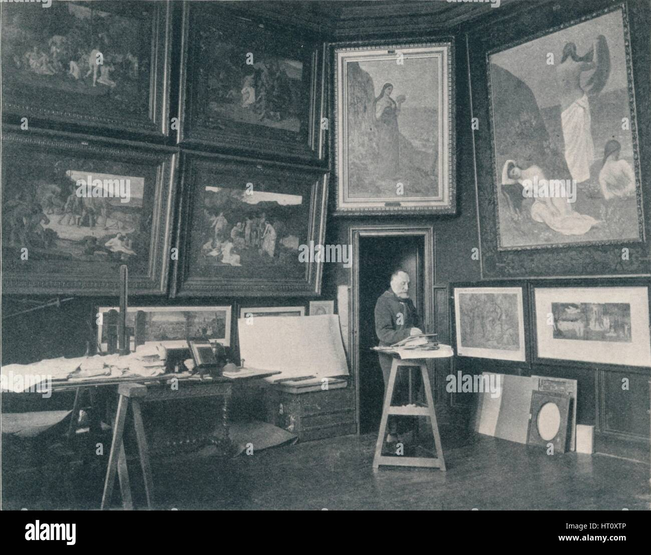 'Puvis De Chavannes in his Studio', c1897. Artist: Unknown. - Stock Image