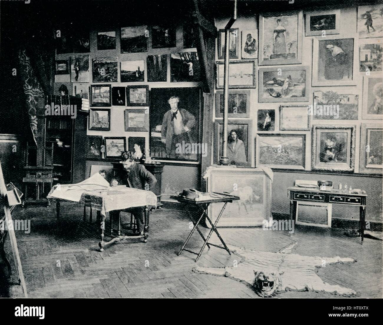 'P. Roll in his Studio', c1897. Artist: Unknown. - Stock Image