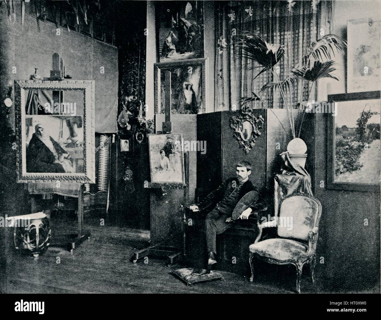 'Dagnan in his Studio', c1897. Artist: Unknown. - Stock Image