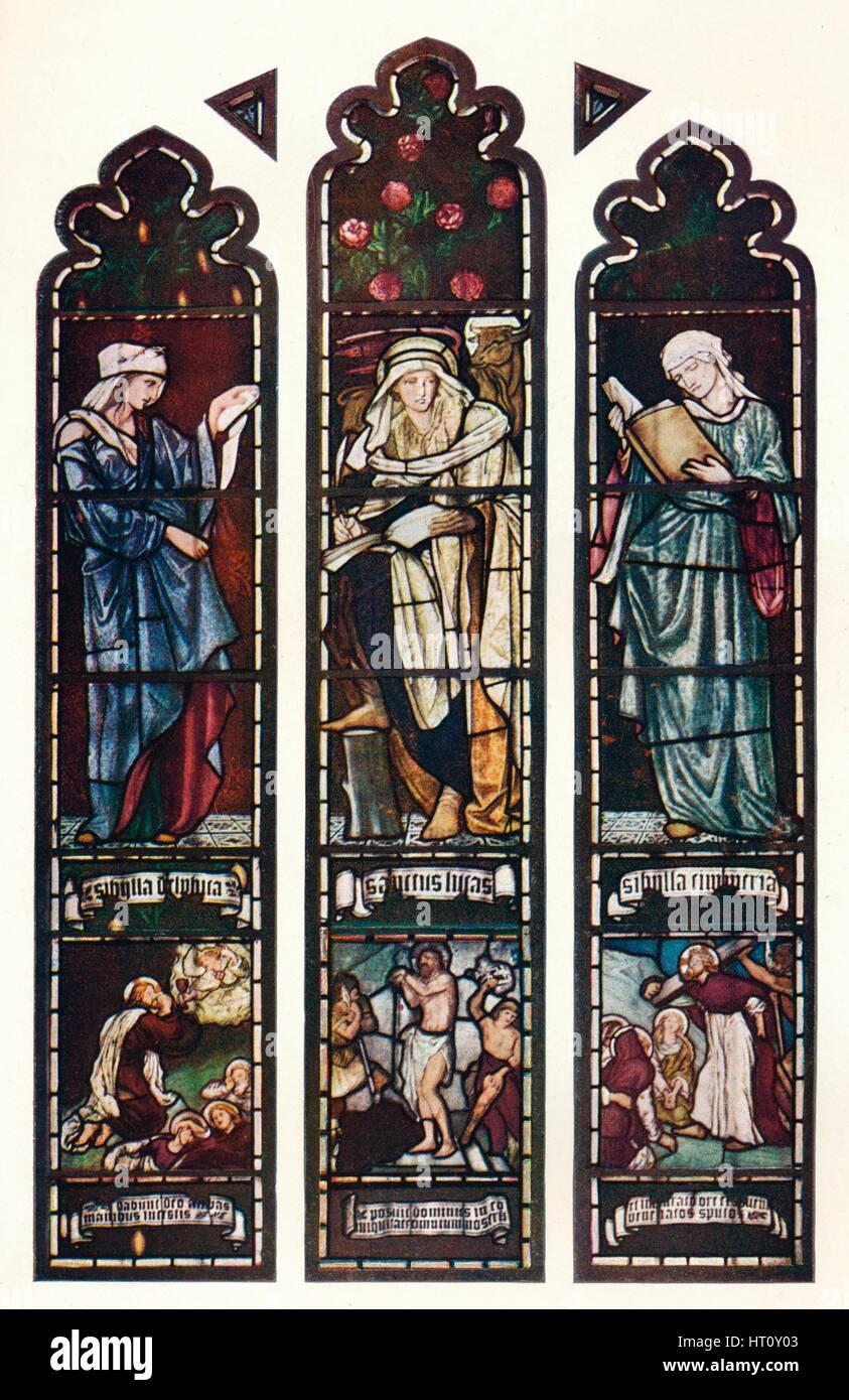 'Sibyl Window, Jesus College Chapel, Cambridge', c1872. Artist: Sir Edward Coley Burne-Jones. - Stock Image