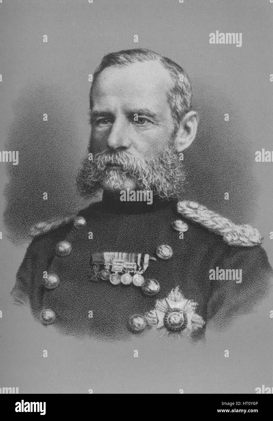 Lieutenant General Sir Frederick Roberts, British soldier, c1880 (1883). Artist: Unknown. - Stock Image