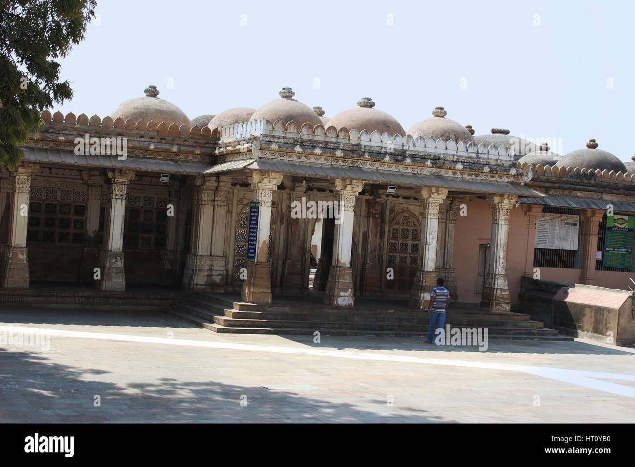 Entrance towards the east mausoleum containing the tombs, Sarkhej Roza, Makarba, Ahmedabad in Gujarat India. - Stock Image